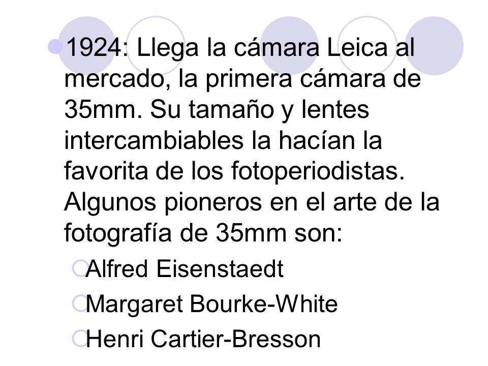 1924: Llega la cámara Leica al mercado, la primera cámara de 35mm