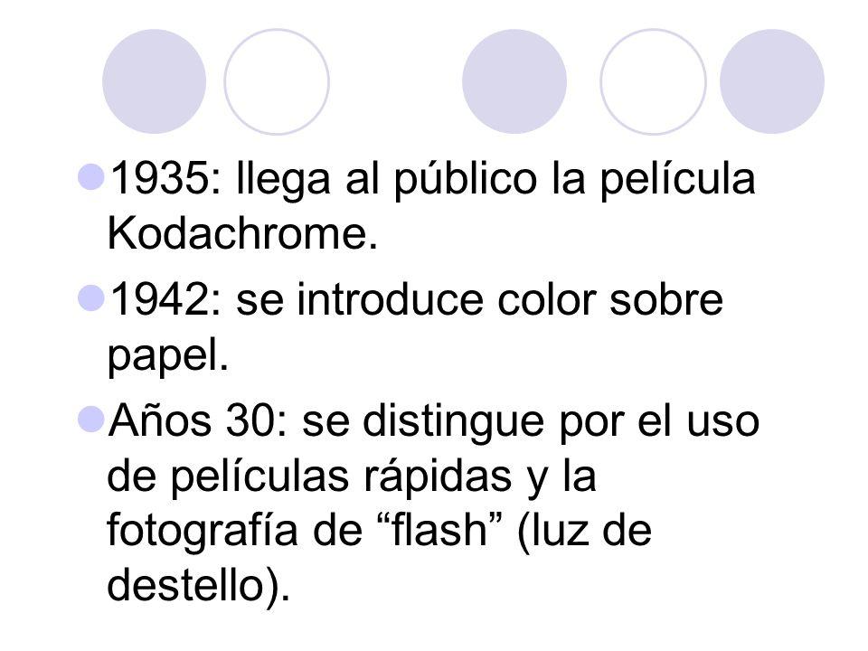 1935: llega al público la película Kodachrome.
