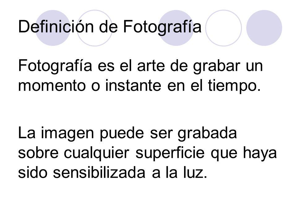 Definición de Fotografía