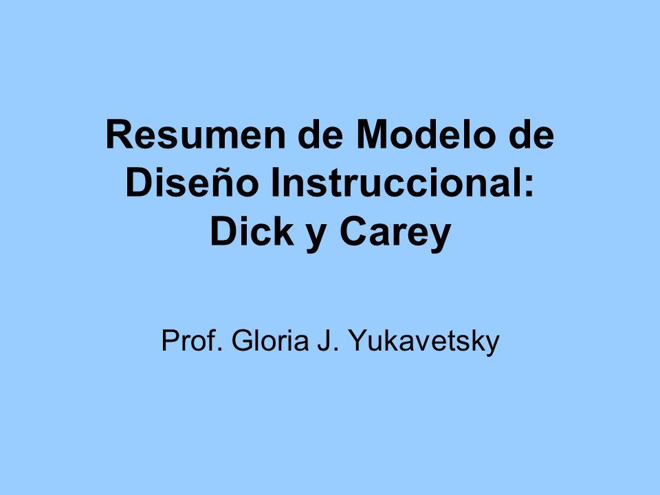Resumen de Modelo de Diseño Instruccional: Dick y Carey