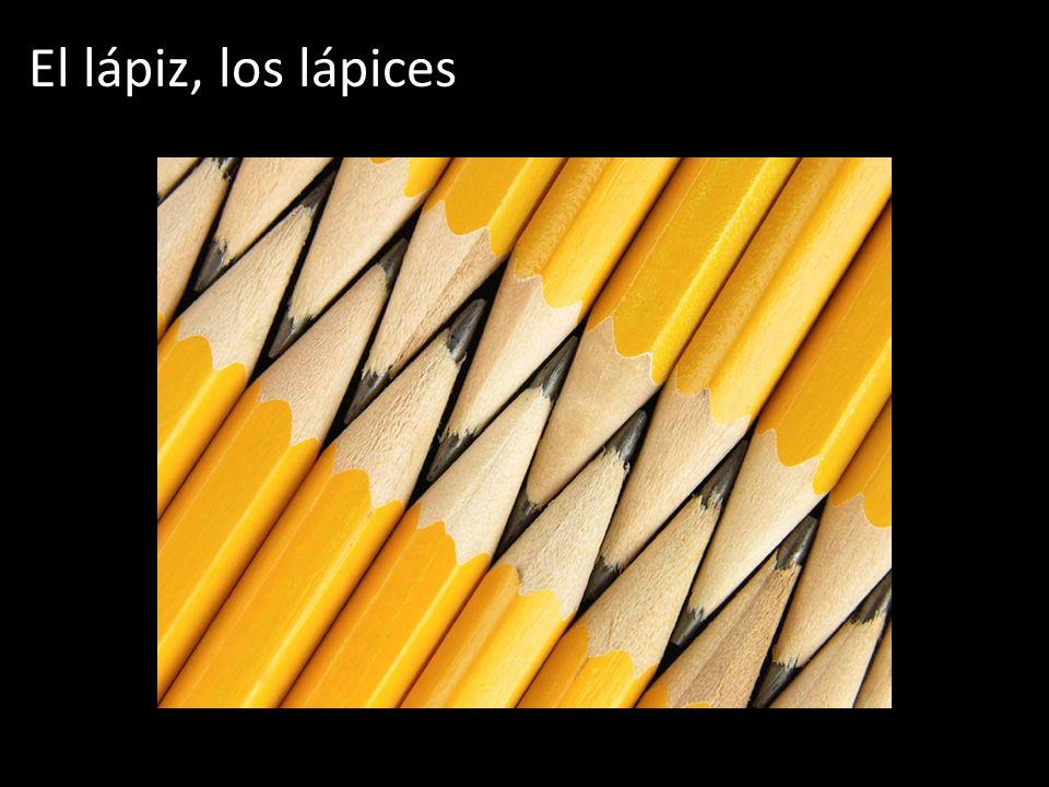 El lápiz, los lápices