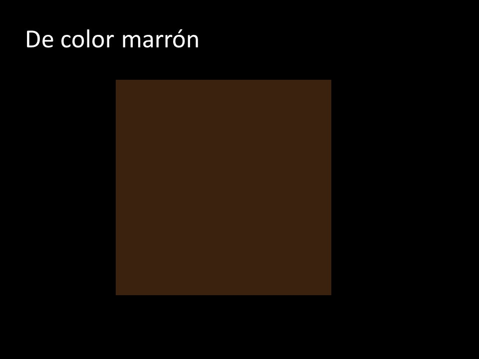 De color marrón