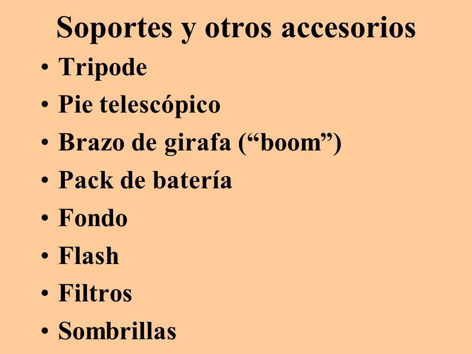 Soportes y otros accesorios