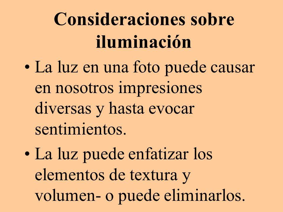Consideraciones sobre iluminación
