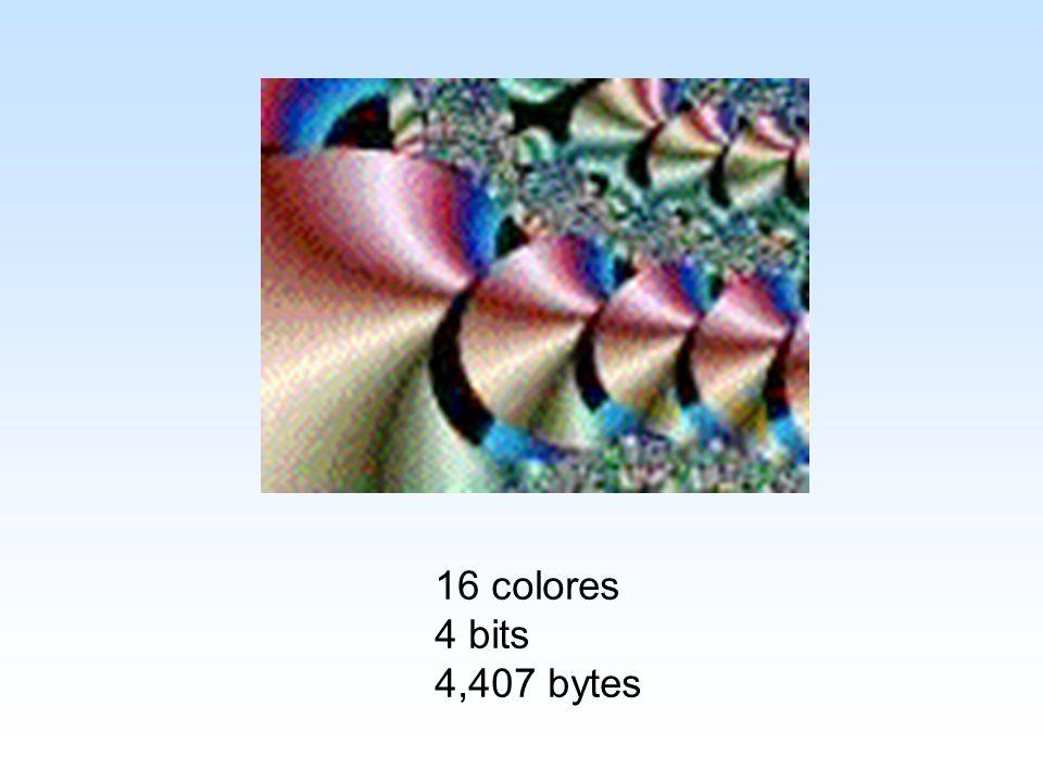 16 colores 4 bits 4,407 bytes