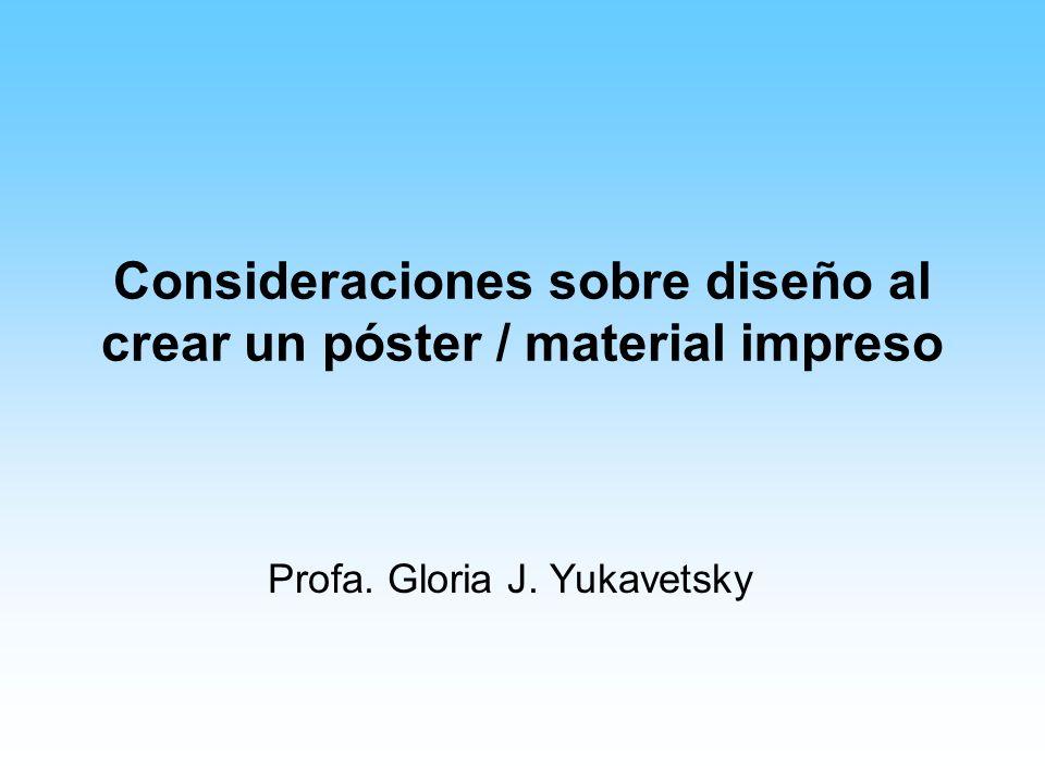 Consideraciones sobre diseño al crear un póster / material impreso