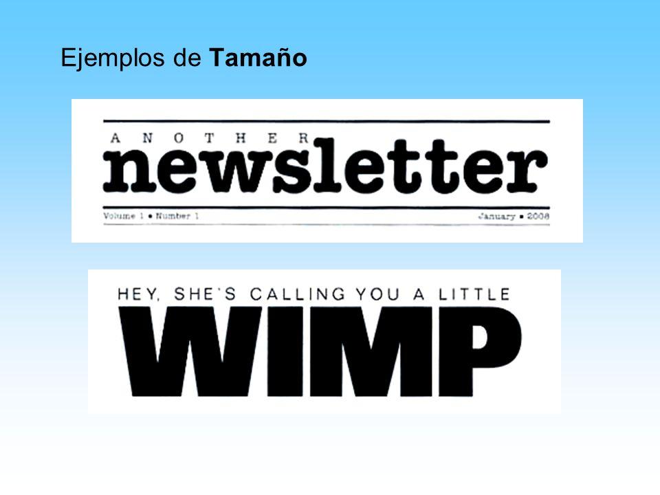 Ejemplos de Tamaño