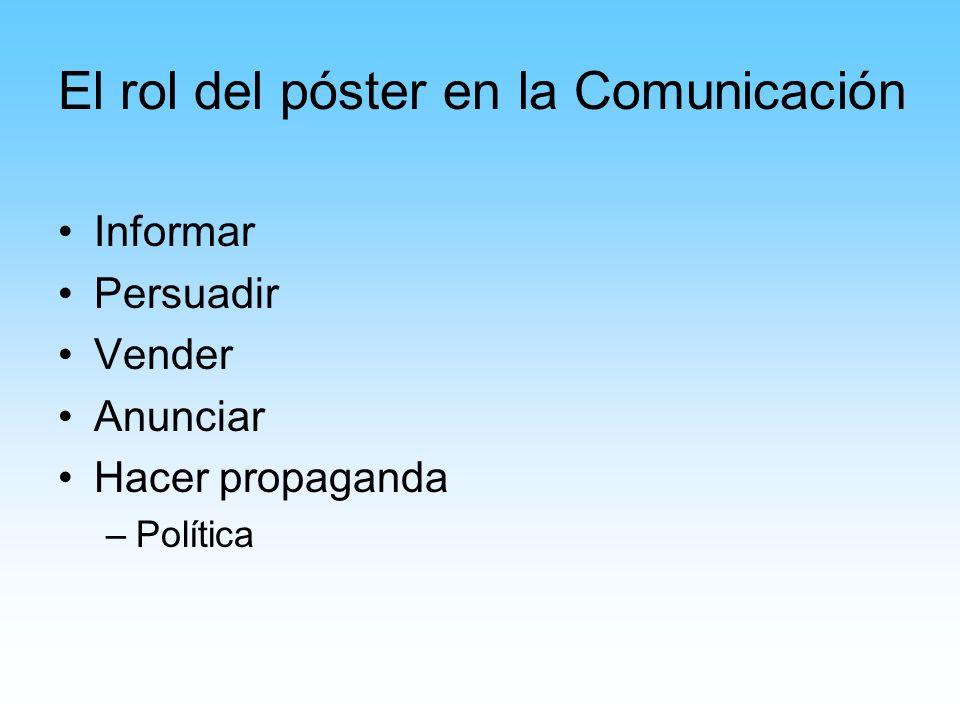 El rol del póster en la Comunicación