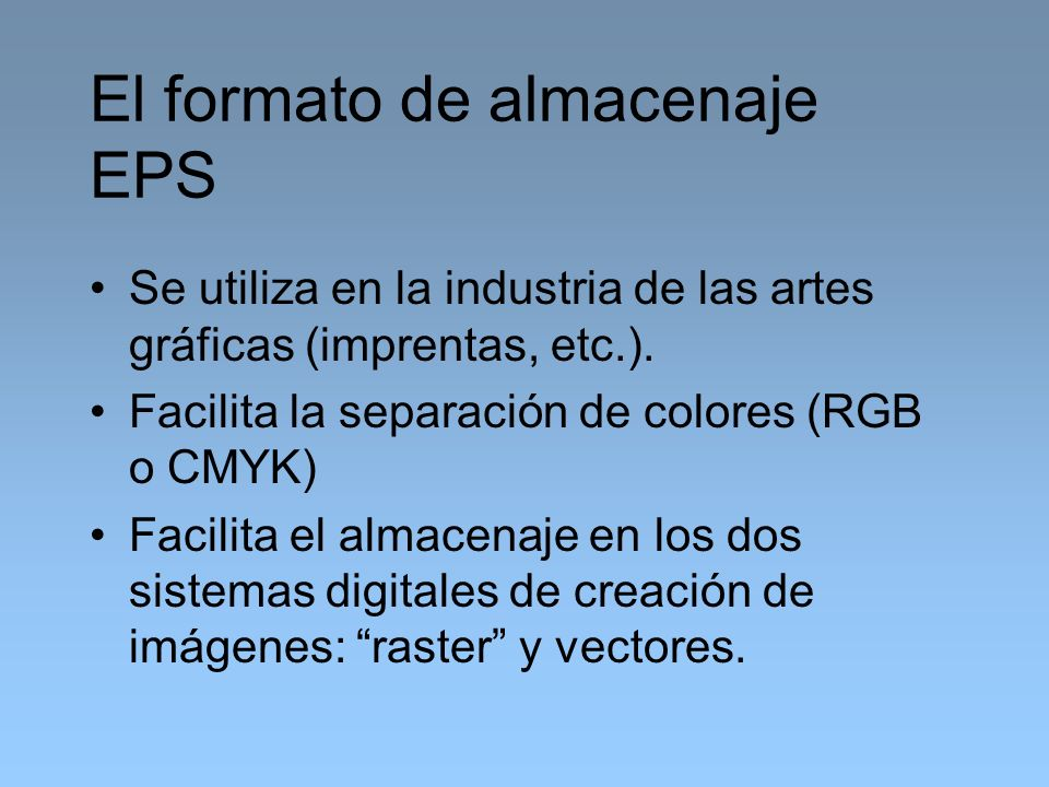 El formato de almacenaje EPS