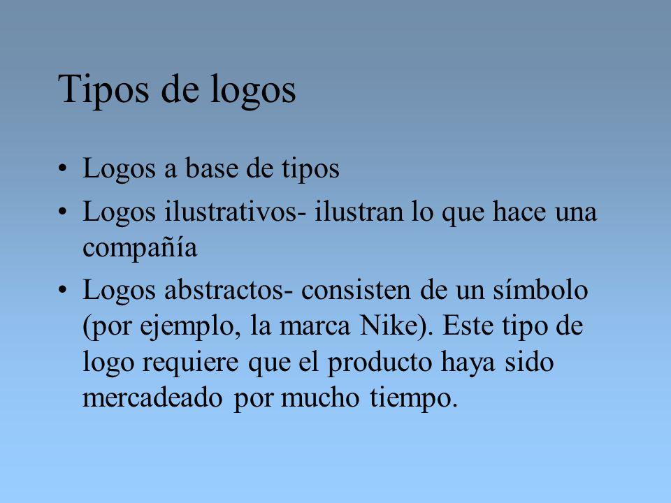 Tipos de logos Logos a base de tipos