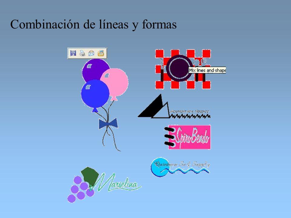 Combinación de líneas y formas