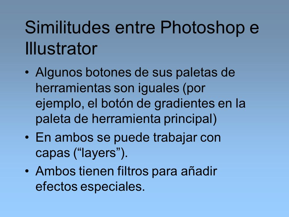 Similitudes entre Photoshop e Illustrator