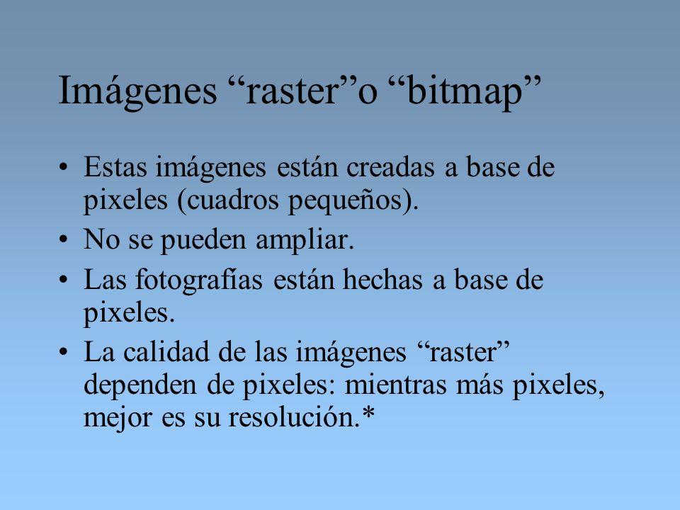 Imágenes raster o bitmap
