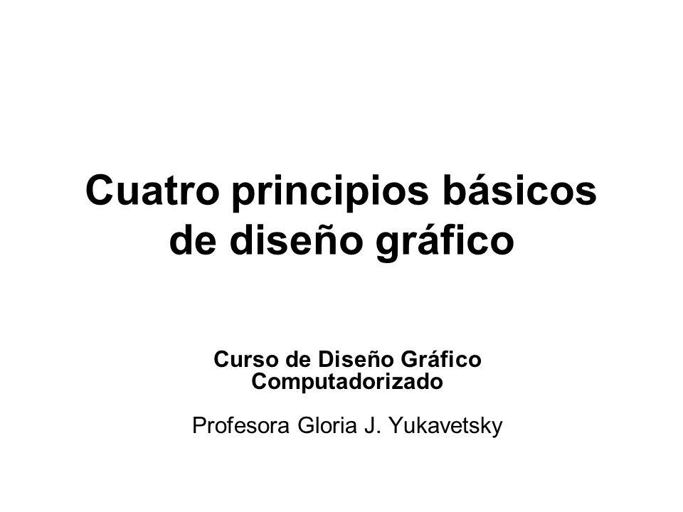 Cuatro principios básicos de diseño gráfico