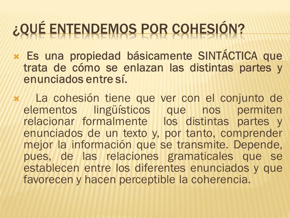 ¿Qué entendemos por cohesión
