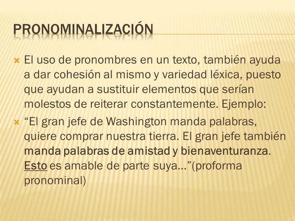 Pronominalización