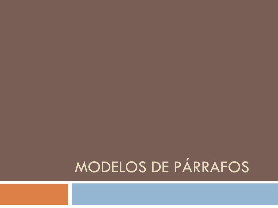 Modelos de párrafos