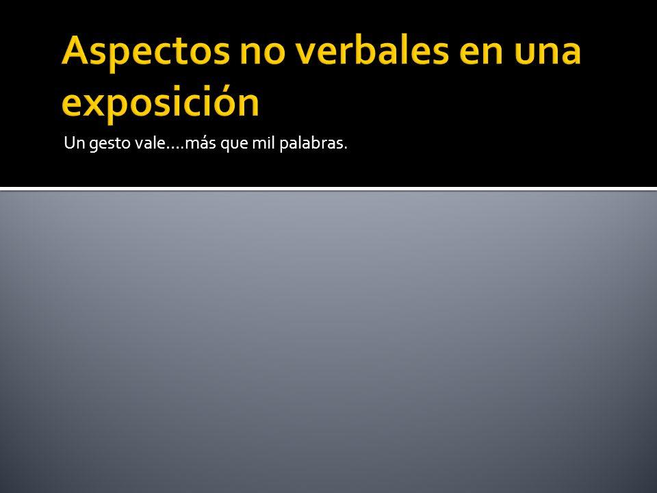 Aspectos no verbales en una exposición