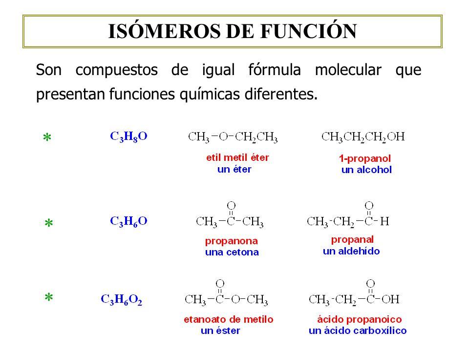 ISÓMEROS DE FUNCIÓN * * *