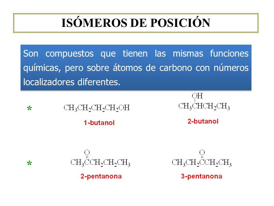 ISÓMEROS DE POSICIÓN * *