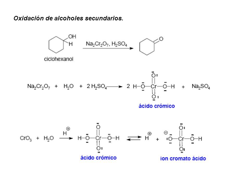 Oxidación de alcoholes secundarios.