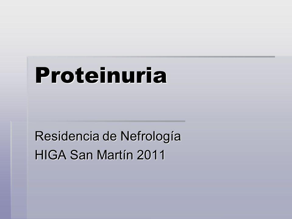 Residencia de Nefrología HIGA San Martín 2011