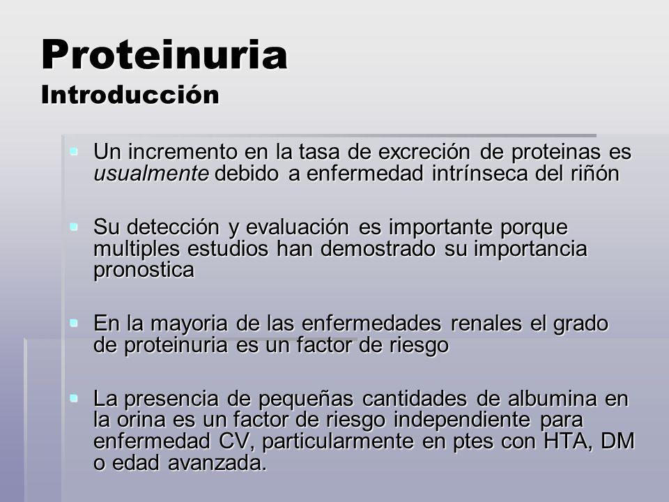 Proteinuria Introducción