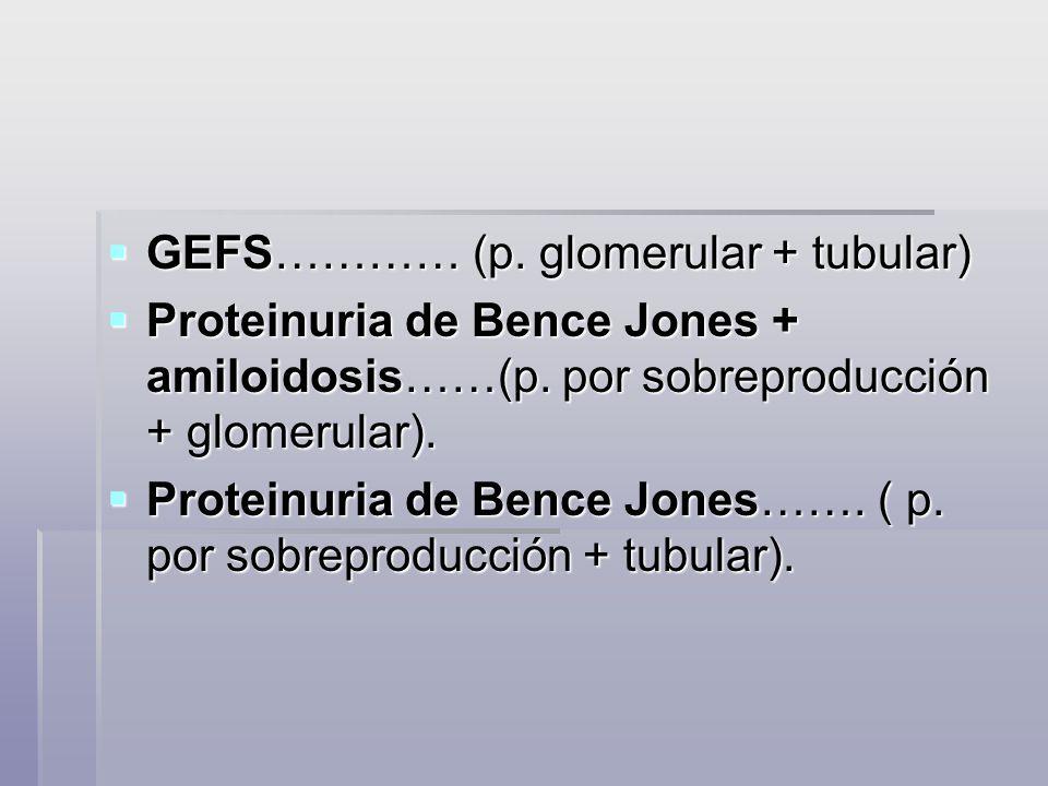 GEFS………… (p. glomerular + tubular)