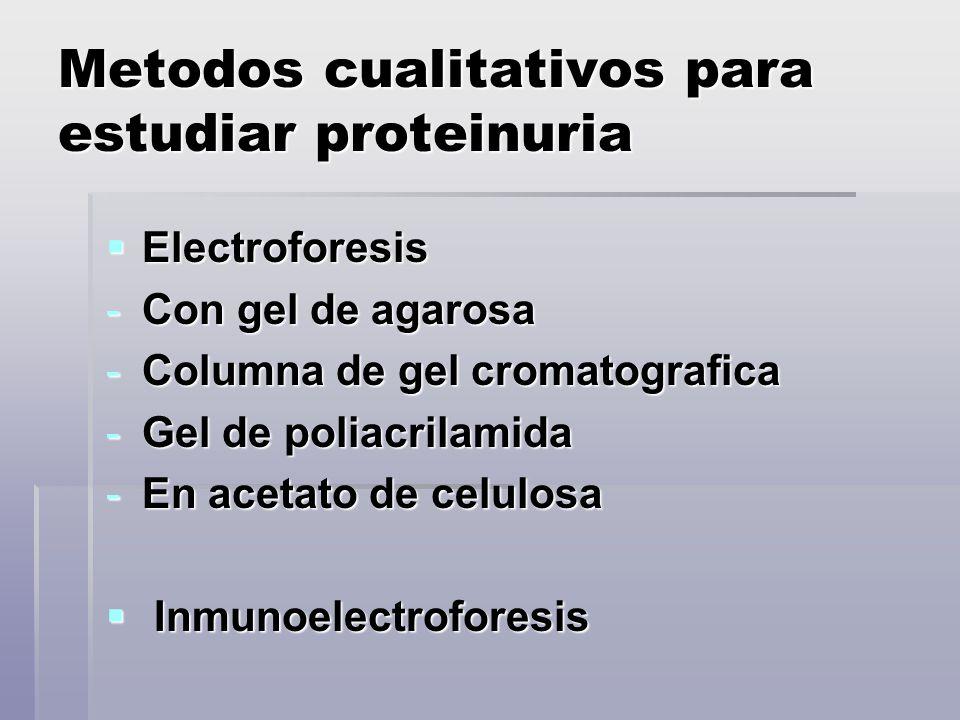 Metodos cualitativos para estudiar proteinuria