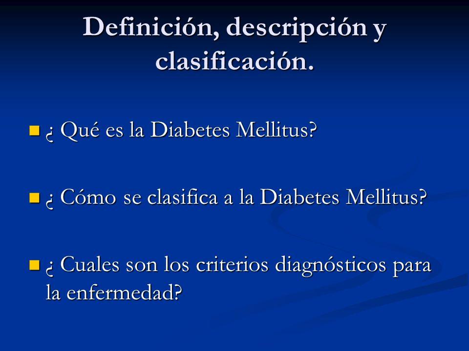 Definición, descripción y clasificación.
