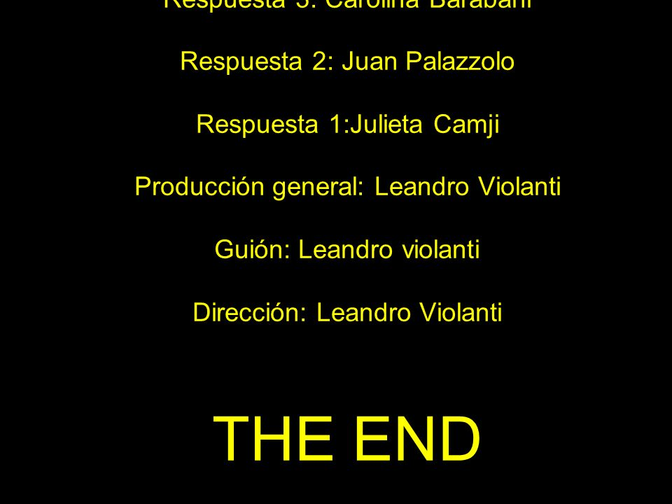 THE END … y Es la vedette están registradas por el autor.