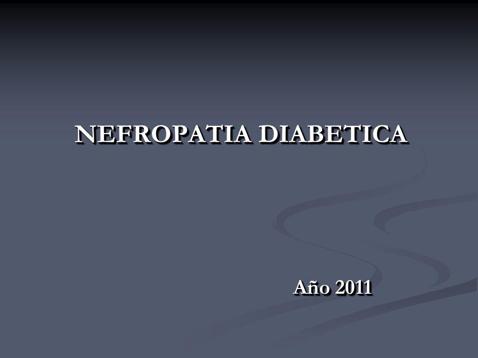 NEFROPATIA DIABETICA Año 2011