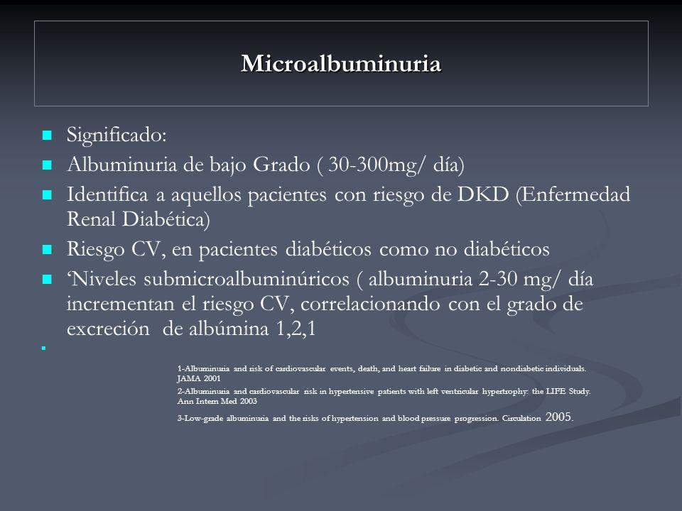Microalbuminuria Significado: