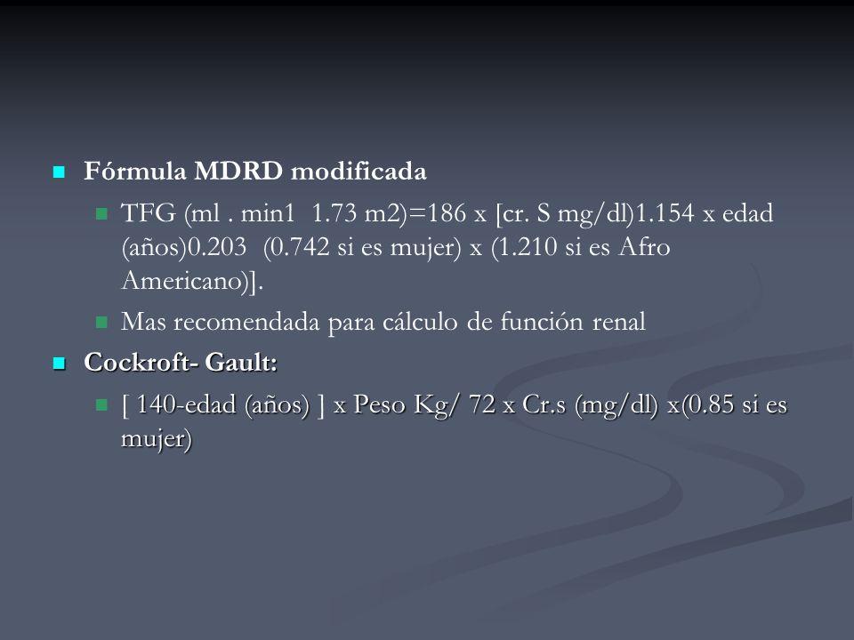 Fórmula MDRD modificada