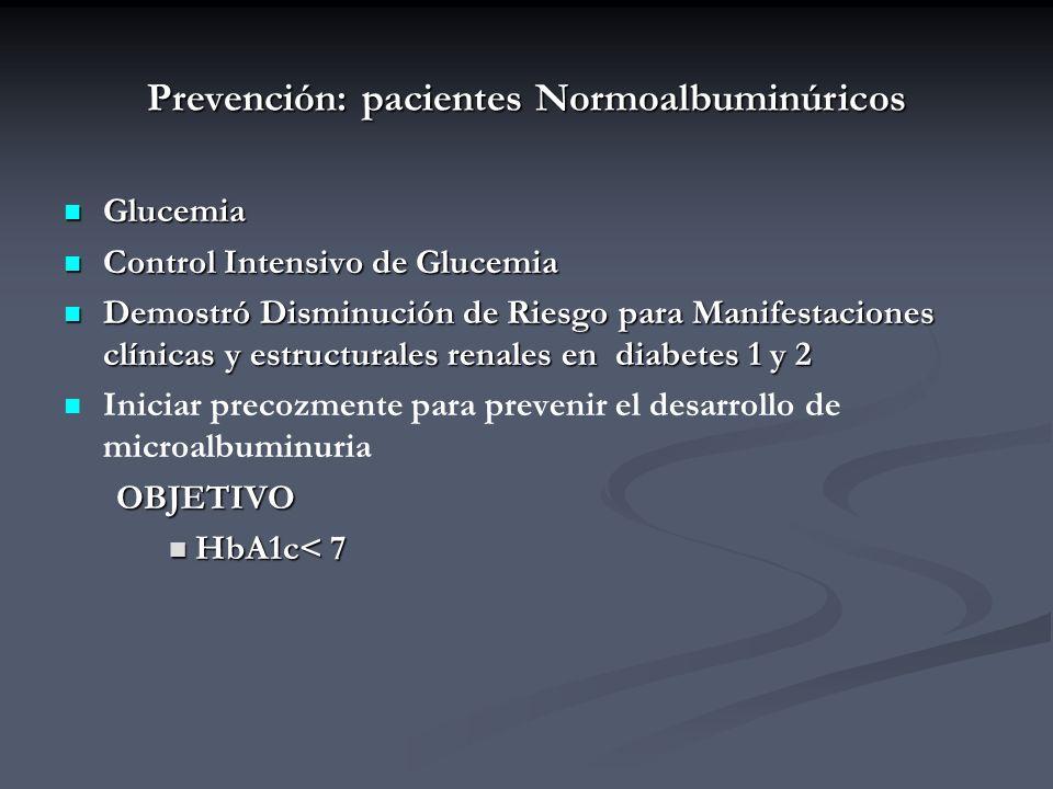 Prevención: pacientes Normoalbuminúricos