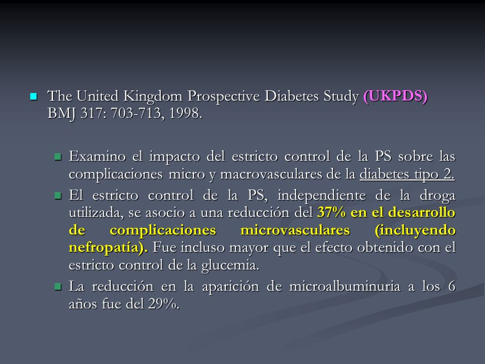 The United Kingdom Prospective Diabetes Study (UKPDS) BMJ 317: 703-713, 1998.