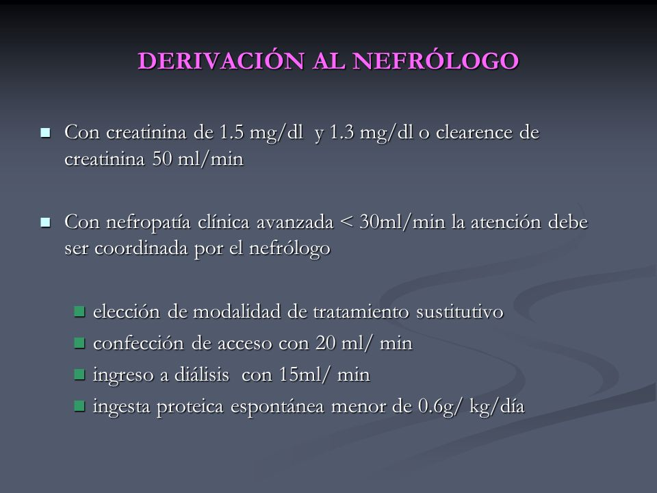 DERIVACIÓN AL NEFRÓLOGO