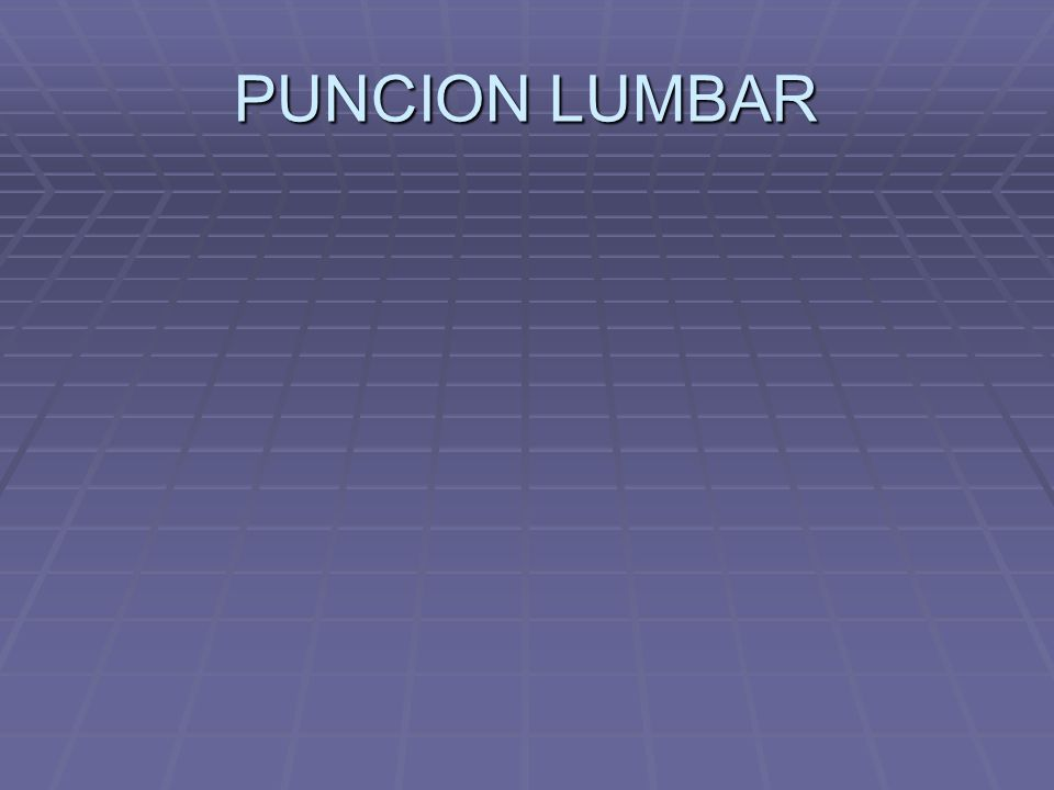 PUNCION LUMBAR
