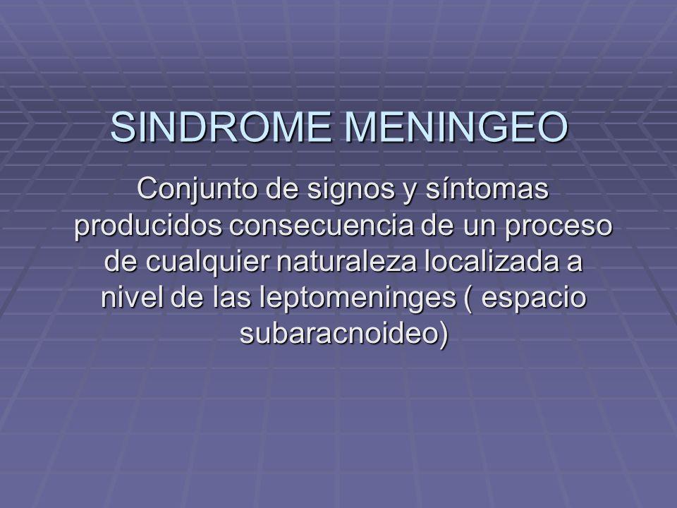 SINDROME MENINGEO