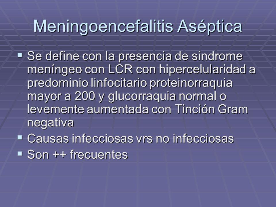 Meningoencefalitis Aséptica