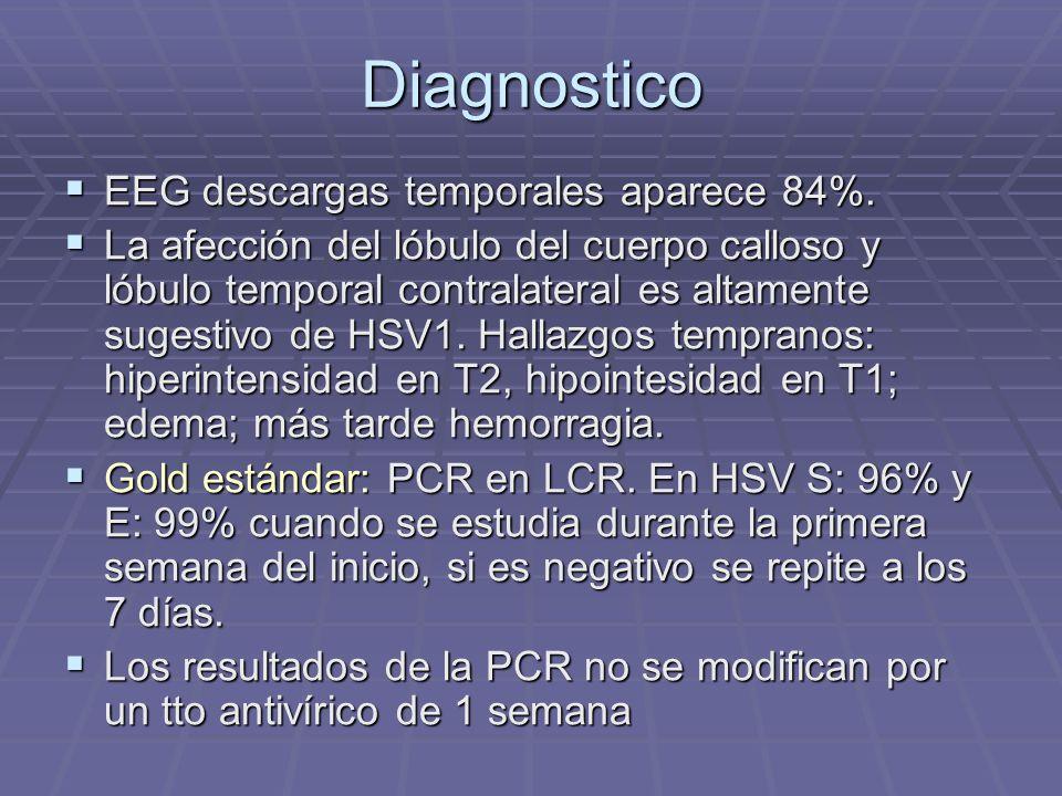 Diagnostico EEG descargas temporales aparece 84%.