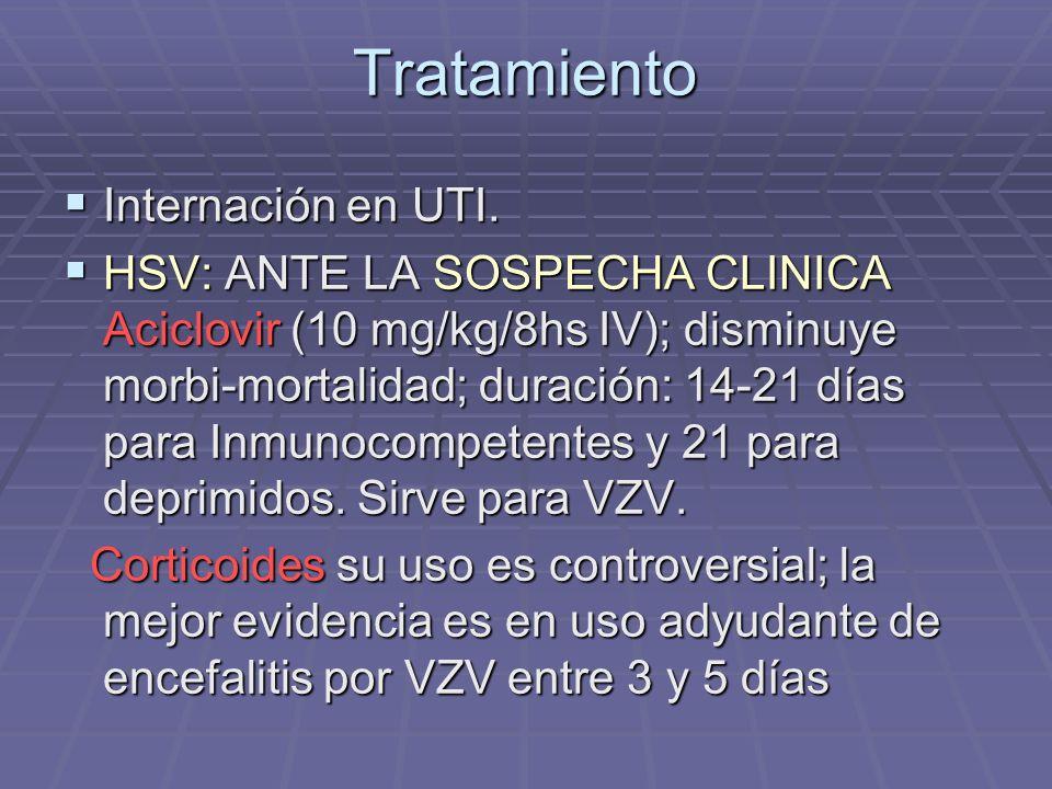 Tratamiento Internación en UTI.