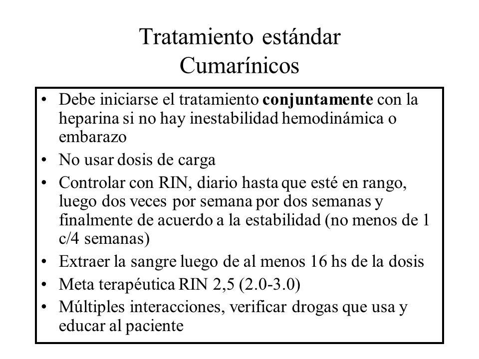 Tratamiento estándar Cumarínicos