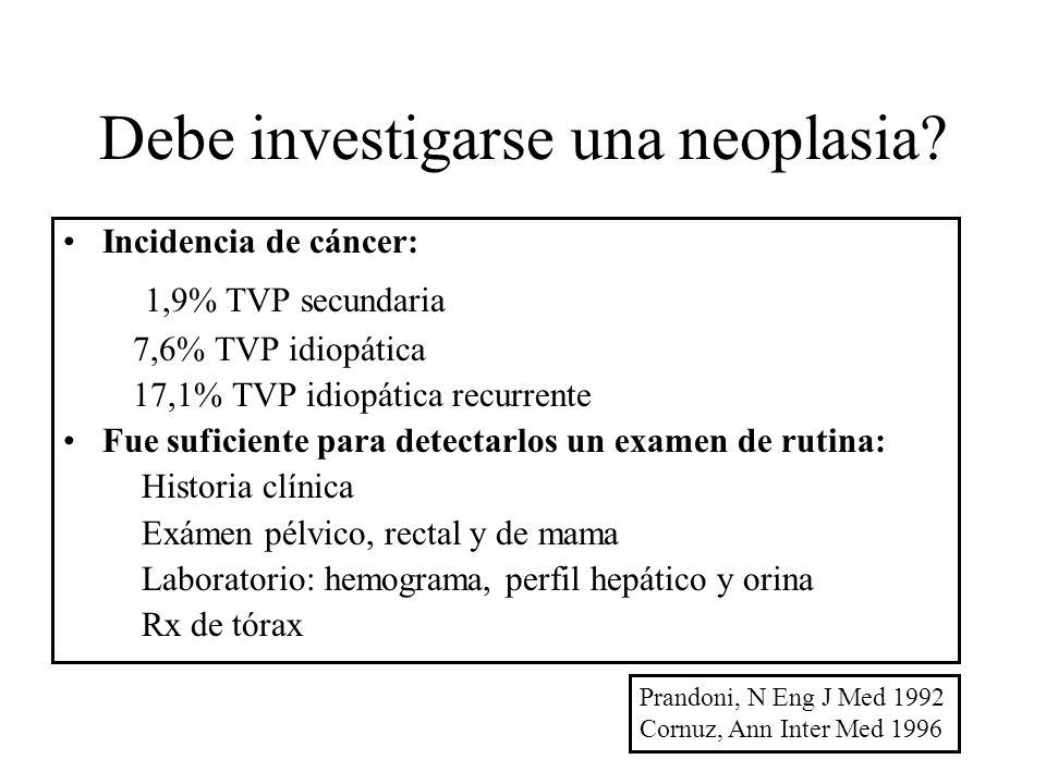 Debe investigarse una neoplasia
