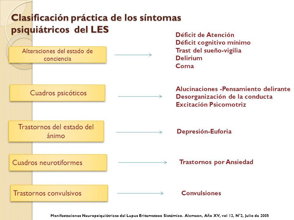 Clasificación práctica de los síntomas psiquiátricos del LES