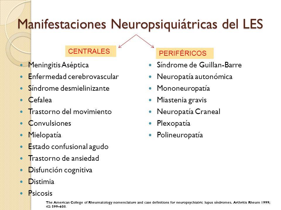 Manifestaciones Neuropsiquiátricas del LES