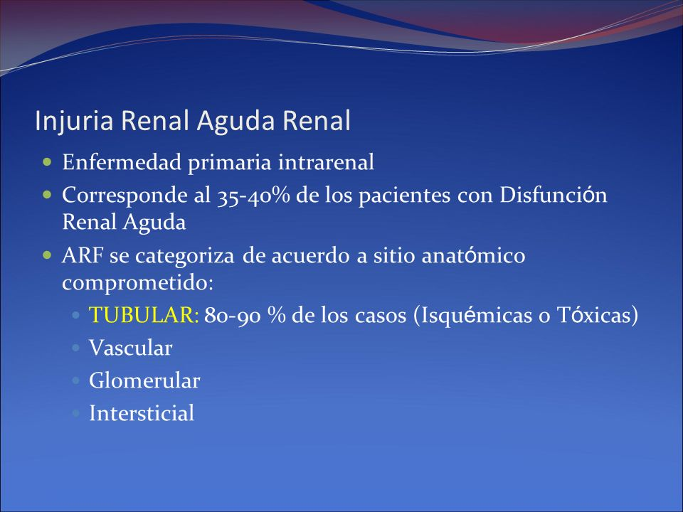 Injuria Renal Aguda Renal
