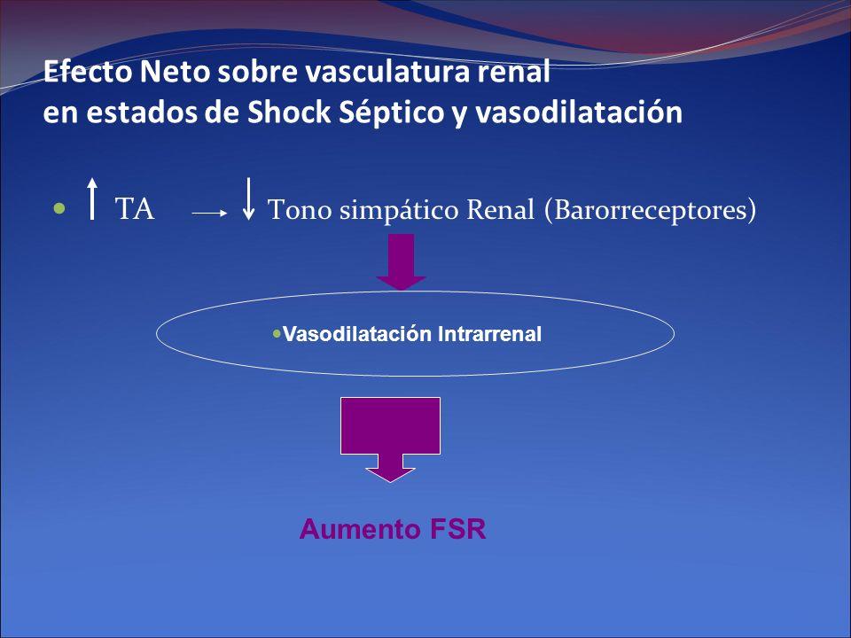 Efecto Neto sobre vasculatura renal en estados de Shock Séptico y vasodilatación