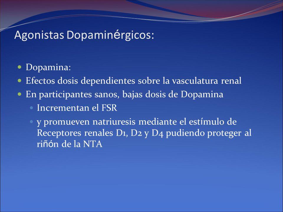 Agonistas Dopaminérgicos: