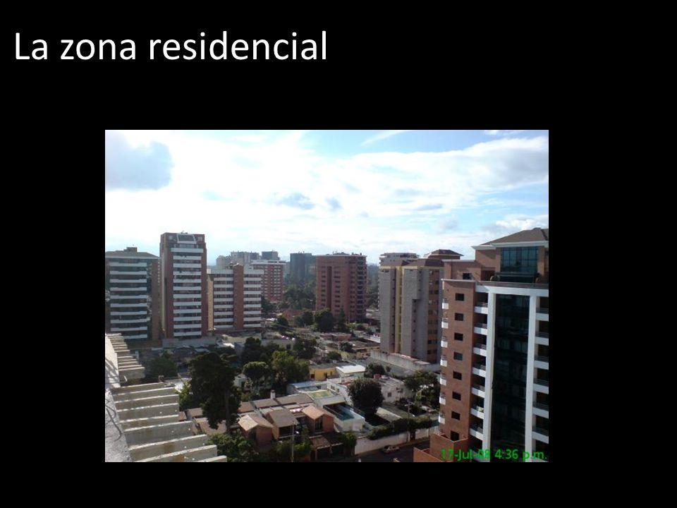 La zona residencial